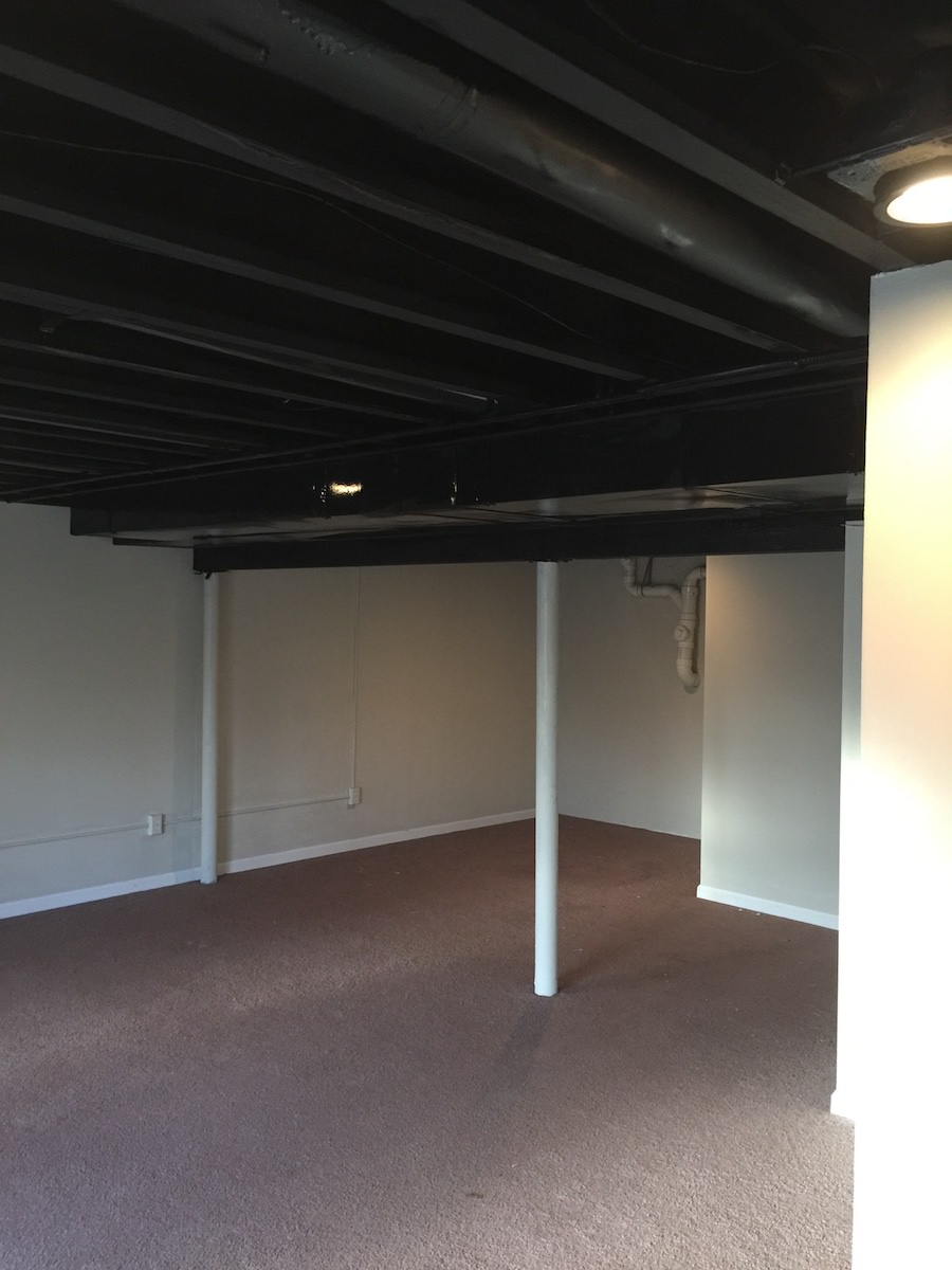 Royersford Basement Painting LaffCo Painting - Black ceiling basement