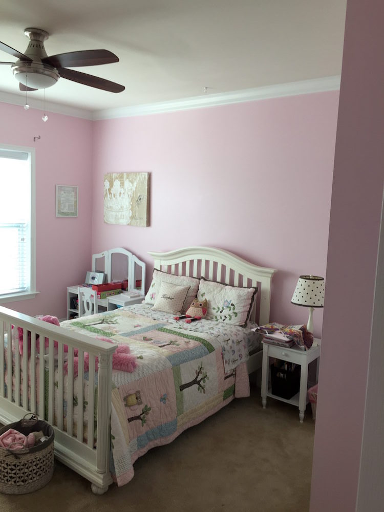 Bedroom Painting - Horsham pink girls room