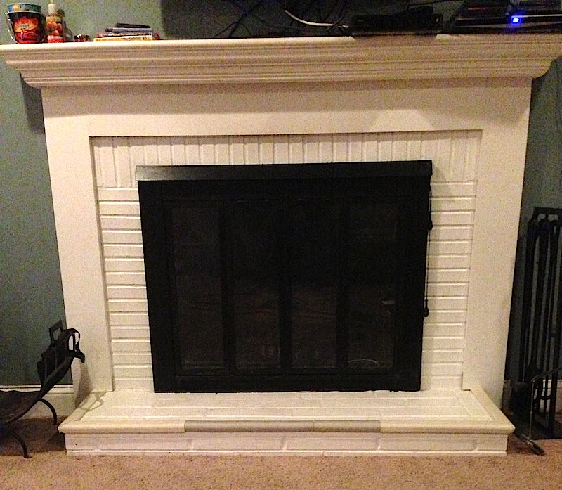 Brick Fireplace Painting LaffCo Painting - Repaint Kitchen Cabinet