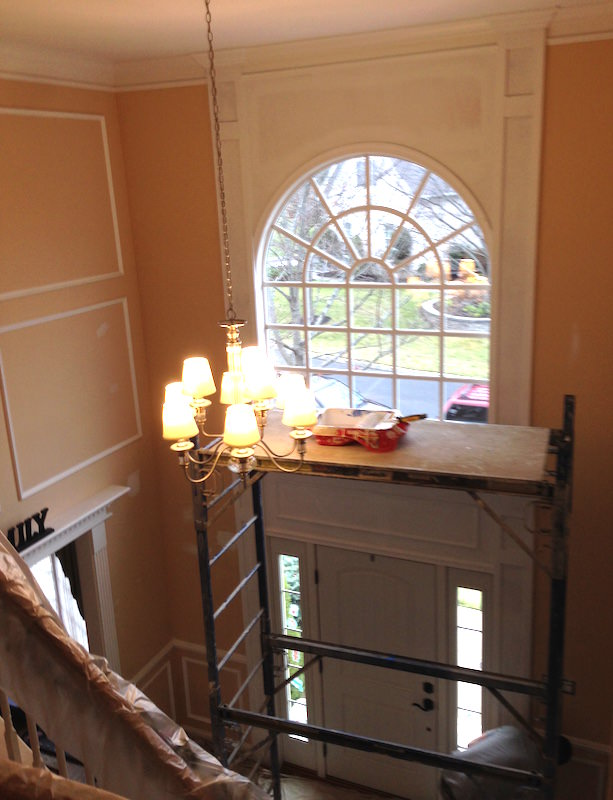 Foyer Paint Jobs : Foyer painting in blue bell laffco