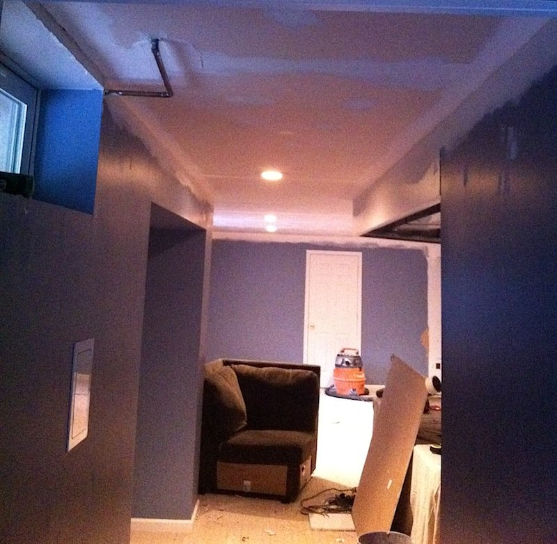 New Basement Ceiling Enhances Usable Space