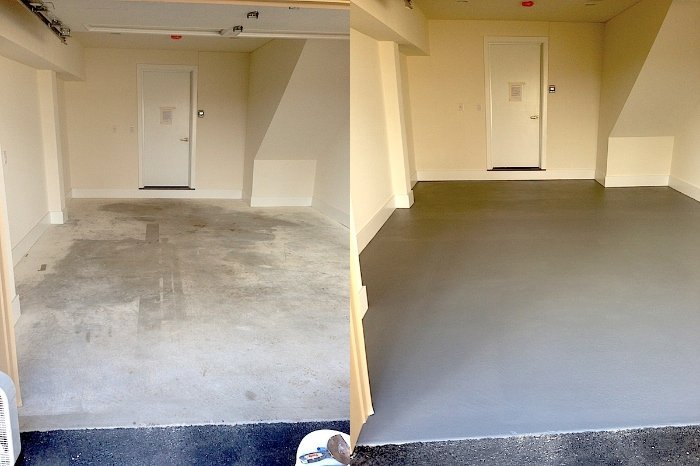 Epoxy Before And After : Epoxy garage floor philadelphia laffco painting