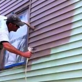 Painting can paint vinyl siding.