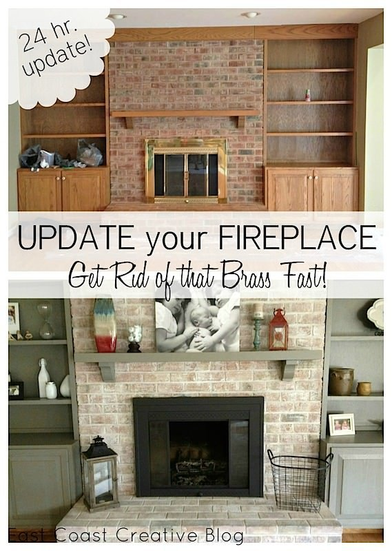 Brick Fireplace Painting can transform a living room.