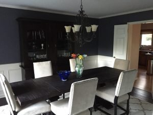 dining room paint - blue bell