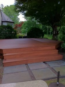 deck refinishing - red