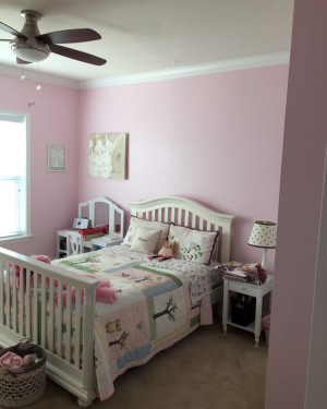 Bedroom Painting - Horsham Pink Girls Room