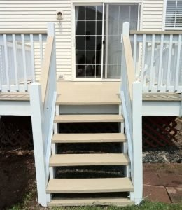 deck refinishing - yellow