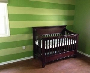 nursery painting - green