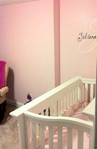 nursery painting - pink